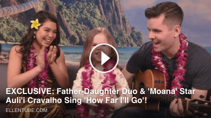 Move over Moana! Claire Ryann joins Ellen and Auli'i Cravalho to show how far she'll go