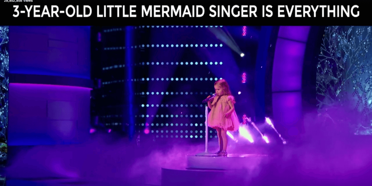 3-year-old Claire Ryann on NBC's Little Big Shots sings songs from Disney's Little Mermaid!