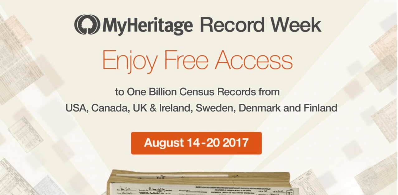 """Family Historians! Get access to 8 Billion Records on MyHeritage now (yes, BILLION with a """"b"""")!"""