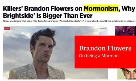 Killers' Brandon Flowers on Mormonism and being a Mormon