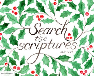 10 search the scriptures by printsomejoy