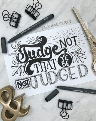 6 judge not by alyssasletters