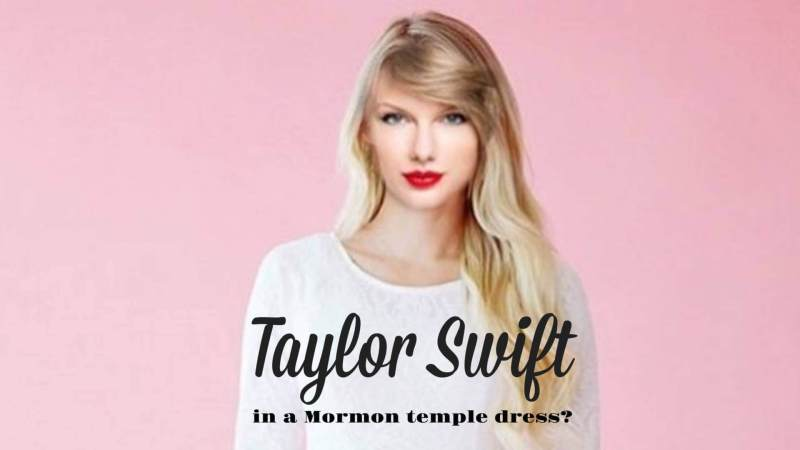 Taylor Swift in a Mormon Temple Dress QNoor Q noor LDS
