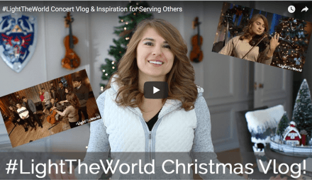Taylor Davis helps to #LightTheWorld with her friends and violin! Check it out!