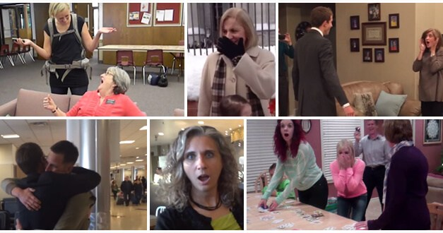 VIDEO: Touching Missionary Reunions captured by Salt Lake International Airport