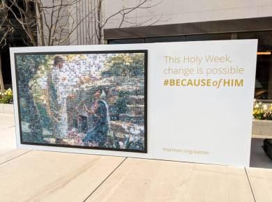 #BecauseofHim mosaic mormon temple square 2018 lds #LDSConf