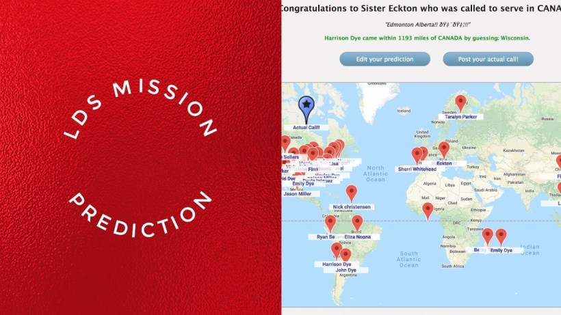 LDS Mission Prediction call map pin online