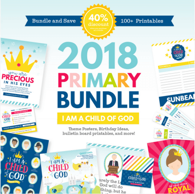 LDS Primary 2018 printable bundle