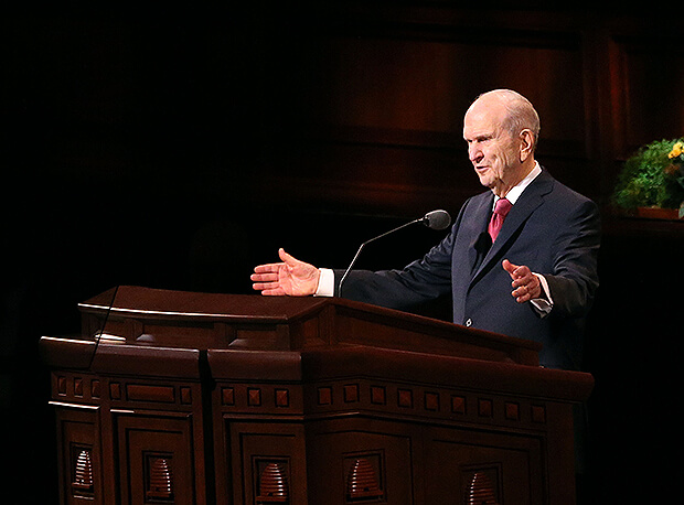"President Nelson on #GeneralConference: ""A pandemic cannot and will not stop the Lord from embracing us"""