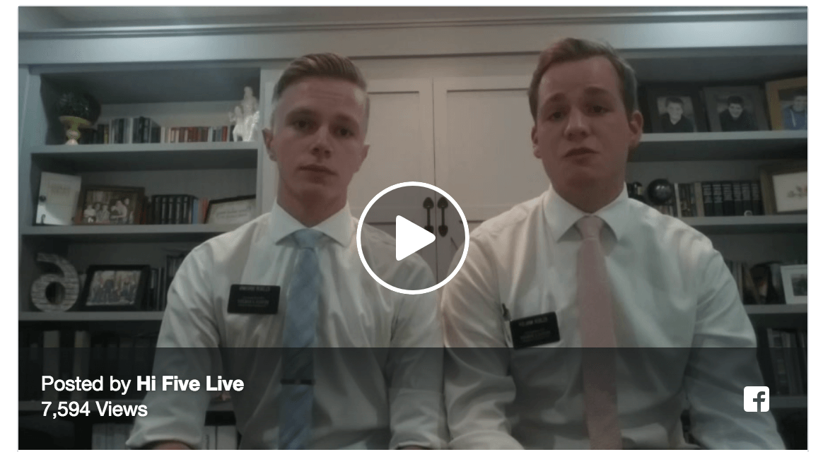 The battle is the Lord's — Missionaries on Hi-Five Live discusses how we need to rely on Jesus Christ