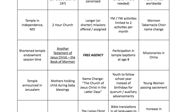 "#GeneralConference ""Lingo""—What will happen at this historic October 2018 conference? (courtesy of Mormon News Report)"