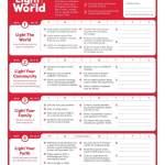 #LightTheWorld 2018 calendar: ideas on how you might serve