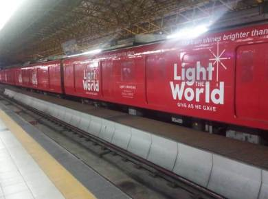 #LightTheWorld train LDS Mormon