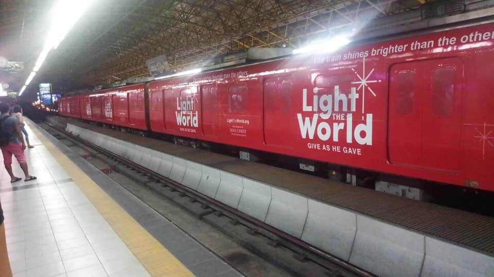 #LightTheWorld train LDS Mormon