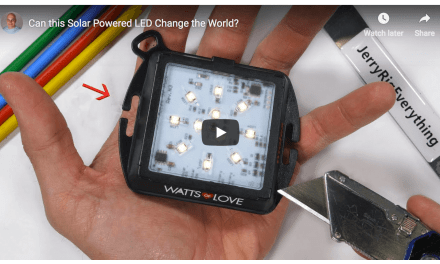 Can this Solar Powered LED Change the World? JerryRigEverything helps to #LightTheWorld