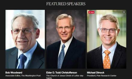 """Integrity and Trust: Lessons from Watergate and Today"" convened by Deseret News brings key Watergate figures Bob Woodward and Elder D. Todd Christofferson together"