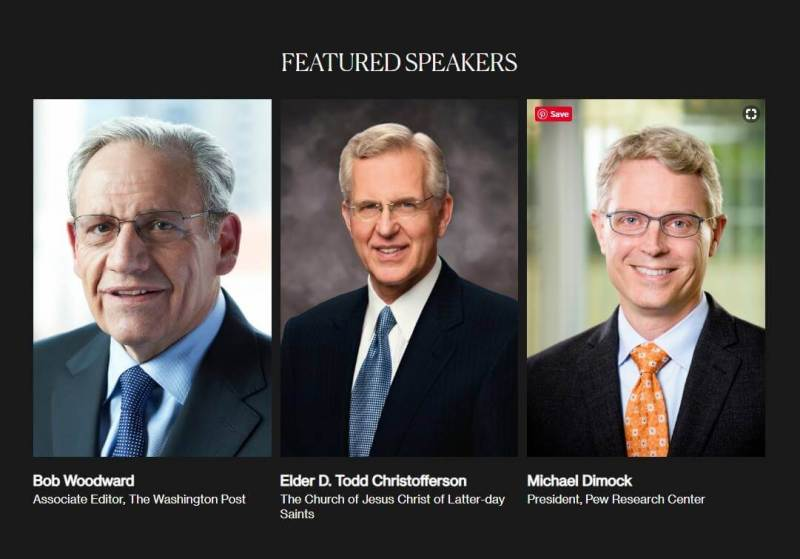 "Deseret News convenes key Watergate figures Bob Woodward and Elder D. Todd Christofferson to discuss ""Integrity and Trust: Lessons from Watergate and Today"""