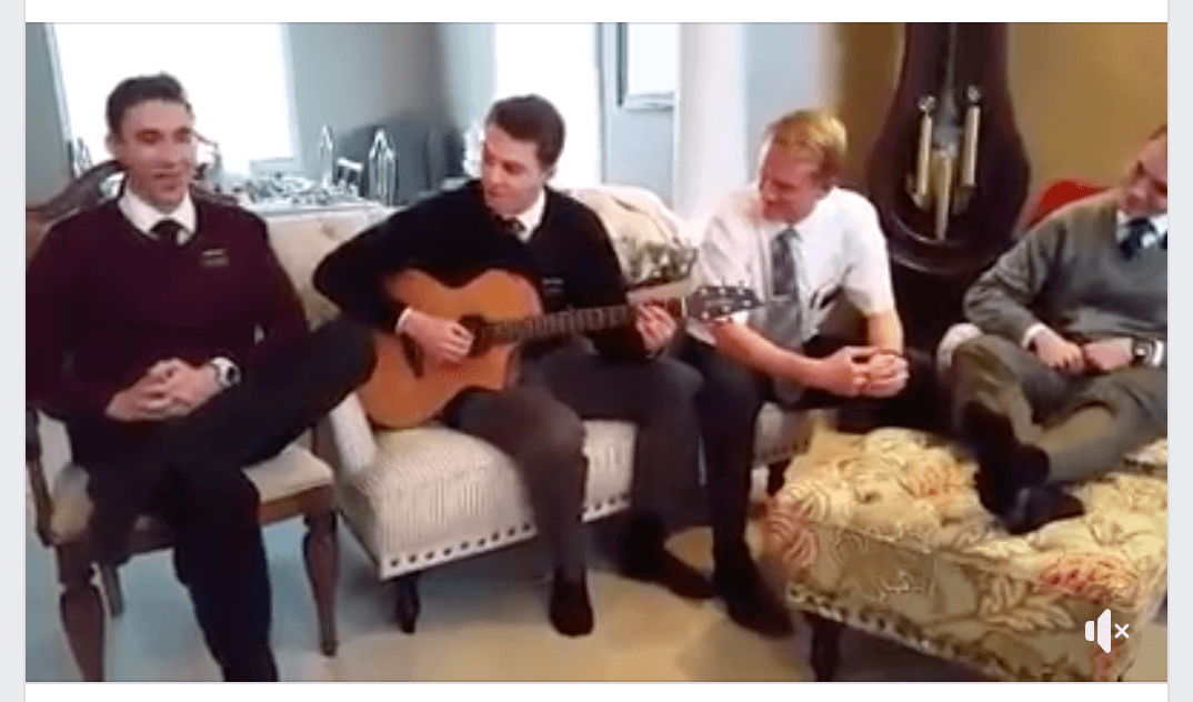 Need a lift? Listen as four talented Elders sing to a song
