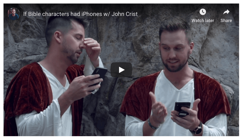 If Bible characters had iPhones funny LDS Mormon humor