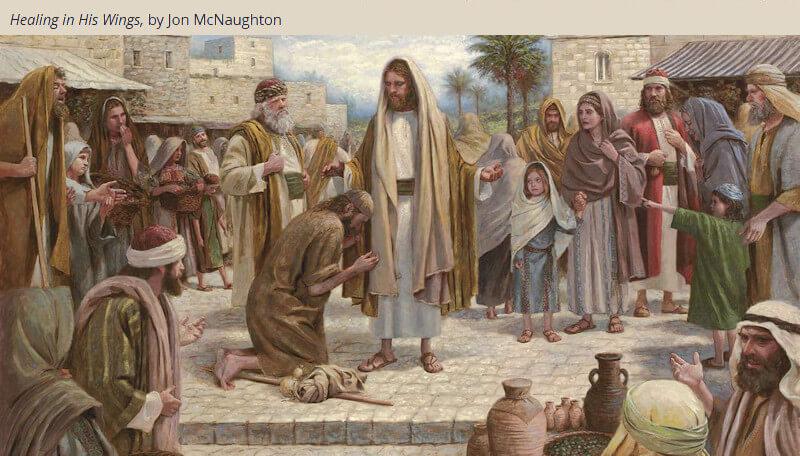 LDS Mormon Come Follow Me Jon mcnaughton christ healing lame