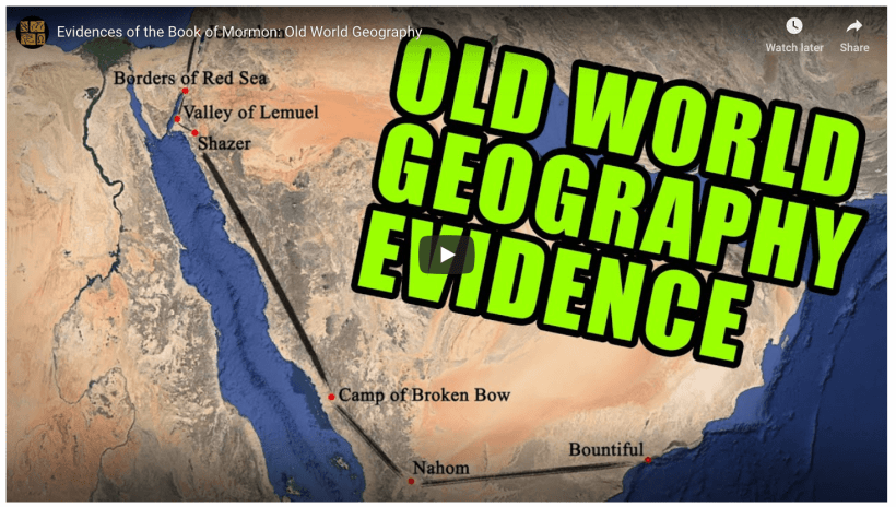 Evidences of the Book of Mormon: Old World Geography