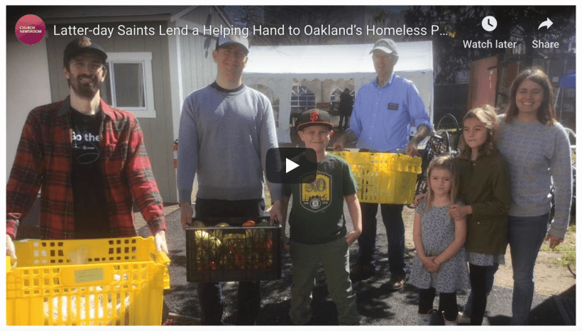 Latter-day Saints Lend a Helping Hand to Oakland's Homeless Population