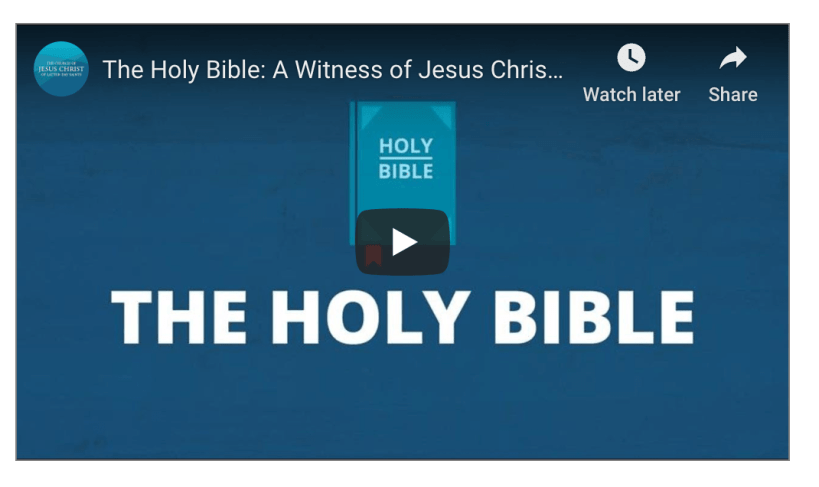 The Holy Bible: A Witness of Jesus Christ (Do Mormons really believe in this book?) LDS Mormon