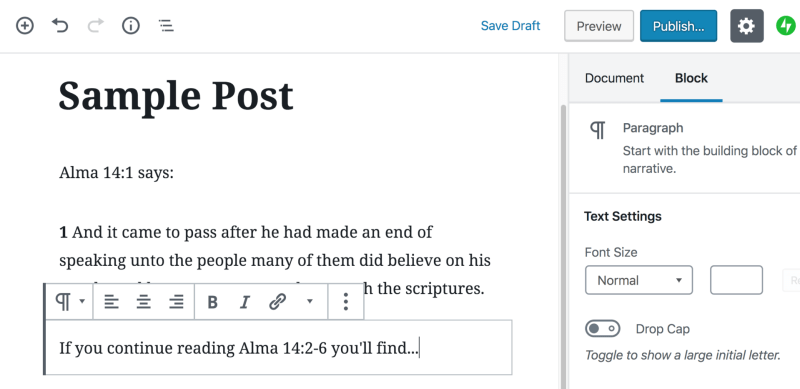 Latter-day Linker now works with Gutenberg