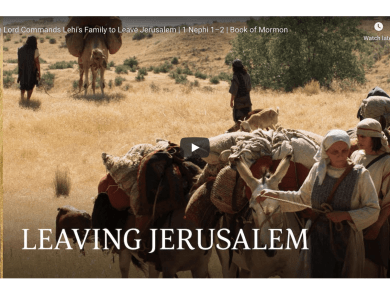 The Lord Commands Lehi's Family to Leave Jerusalem | 1 Nephi 1–2 | Book of Mormon LDS videos