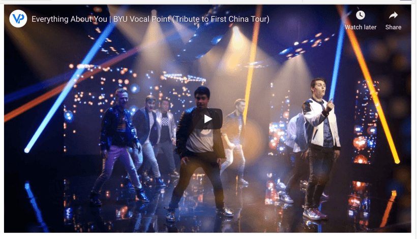 Everything About You   BYU Vocal Point (Tribute to First China Tour)