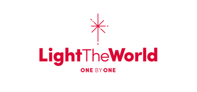 #LightTheWorld 2019 logo one by one