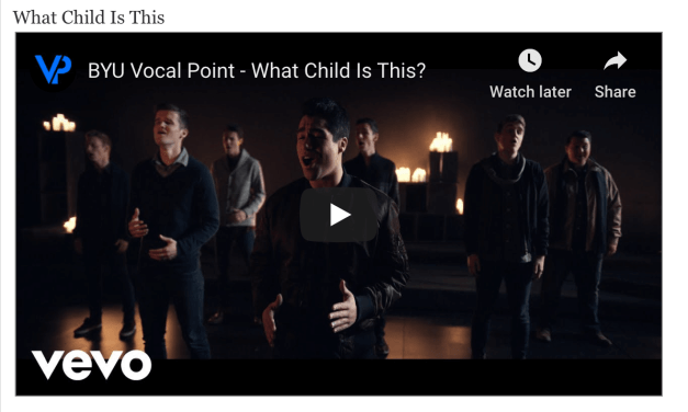 VIDEO: BYU's VOCAL POINT nominated for FOUR A cappella Video Awards by The Contemporary A Cappella Society!