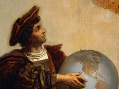 Nephi's prophesy of Christopher Columbus Christopher columbus 1451 1506 detail from allegory on charles v of habsburg 1500 1558 as ruler of the world painting by peter johann nepomuk geiger photo by deagostini getty images