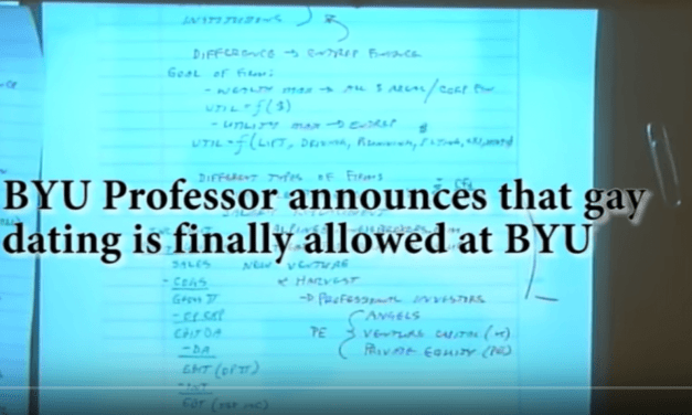 New LDS handbook changes: BYU PROFESSOR CONFIRMS GAY DATING IS ALLOWED AT BYU?