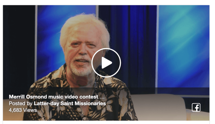 Merrill Osmond is inviting you to be in his next music video