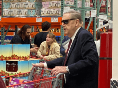 Jeffrey R. Holland chillin in Costco with some fly sunglasses during a pandemic #corona #covid18 LDS Mormon