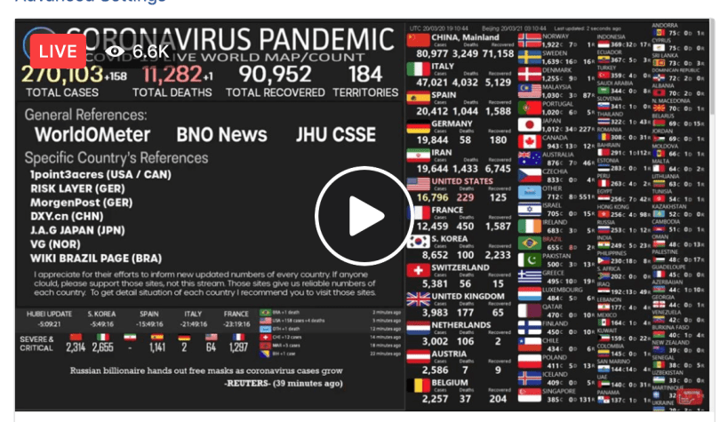 US coronavirus cases will 'explode', says Top US Infectious Disease czar, as figures show virus is already spreading faster in America than it did in China and the US has second highest rate of new cases per day in world ? LIVE Real Time CORONA-VIRUS PANDEMIC OUTBREAK MAP ?