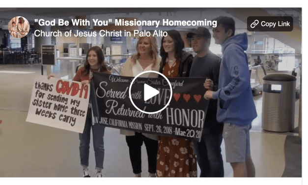 """Returning Missionaries: """"God Be With You Till We Meet Again"""""""