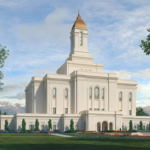Did you notice the similar architectural style between the Tooele temple rendering and Saltair?