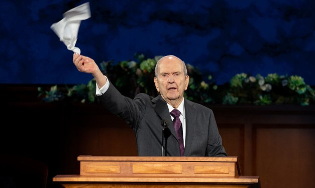Powerful behind-the-scenes images from the Sunday, April 5, 2020 General Conference