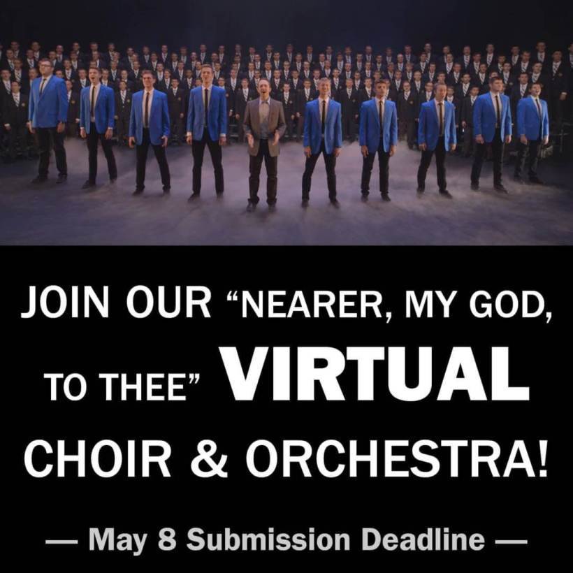 """JOIN VOCAL POINT'S VIRTUAL CHOIR/ORCHESTRA—perform """"Nearer My God to Thee"""" with Vocal Point"""