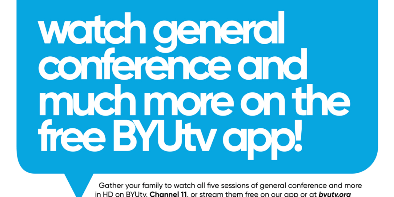 #GeneralConference + BYUtv = a winning combination