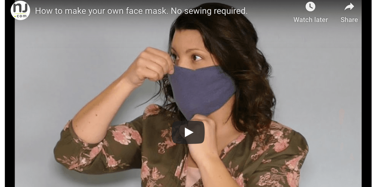 """PRO TIP VIDEO: How to make your own """"no-sew"""" face mask—no sewing required!"""