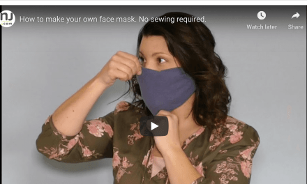 "PRO TIP VIDEO: How to make your own ""no-sew"" face mask—no sewing required!"