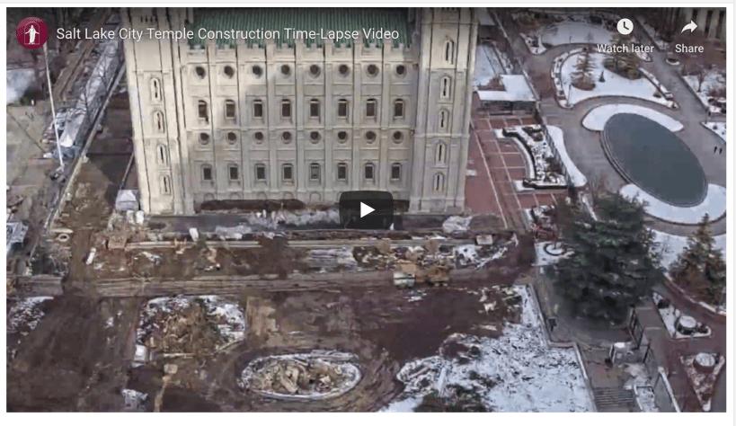 VIDEO: Salt Lake City Temple Construction Time-Lapse Video