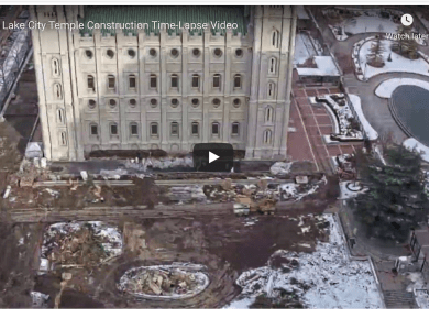 VIDEO: Salt Lake City Temple Construction Time-Lapse Video