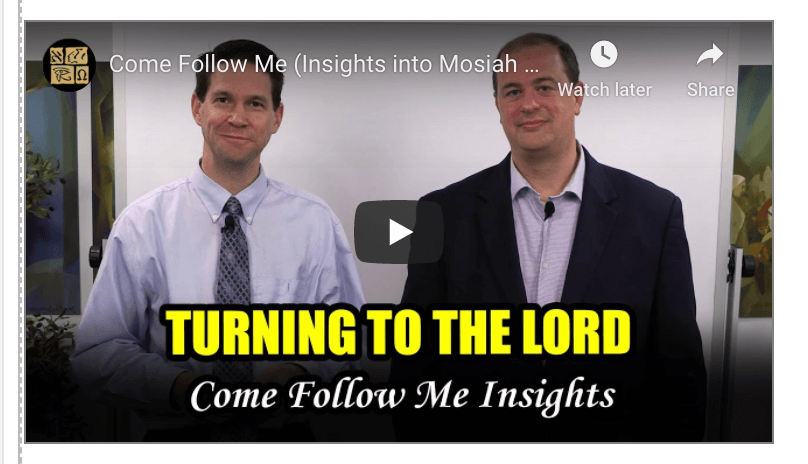 Come Follow Me (Insights into Mosiah 7–10, April 27–May 3)