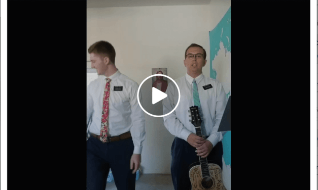 VIDEO: Your Favorite Guys in White Shirts and Ties (Missionaries) singing 🎤 LIVE!
