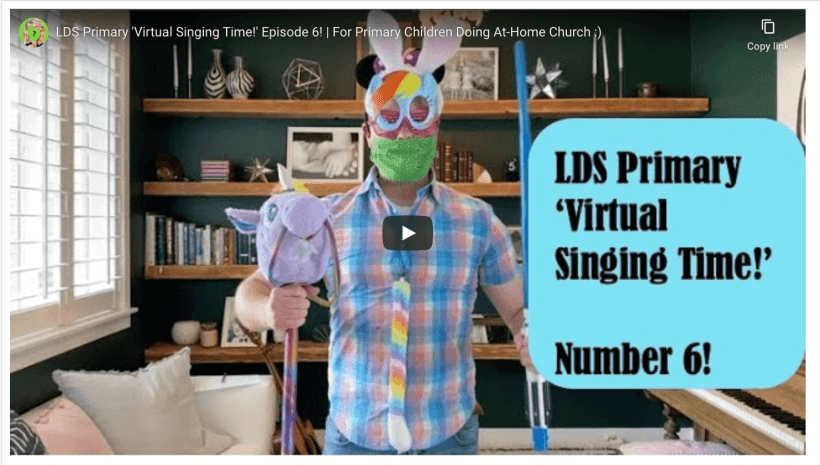 VIDEO: LDS Primary 'Virtual Singing Time!' Episode 6! | For Primary Children Doing At-Home Church :) Derek Westra