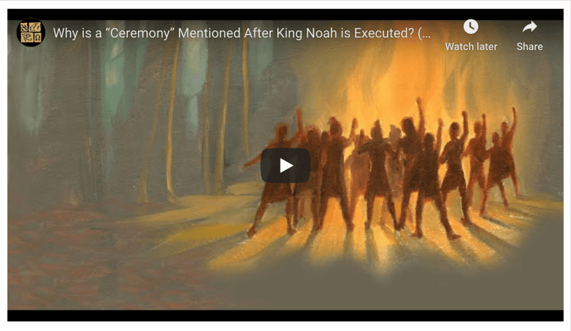 "Why is a ""Ceremony"" Mentioned After King Noah is Executed? (Knowhy #561) Book of Mormon Come Follow Me"